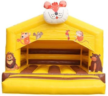 Lion jumping castle